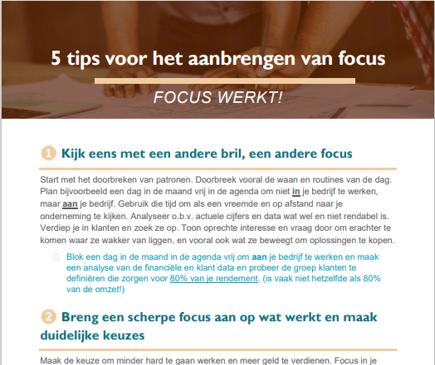 5 tips voor focus